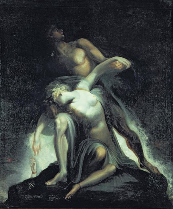 Vision of the Deluge from Paradise Lost by John Milton (1608-1674). Henry (Fussli Fuseli