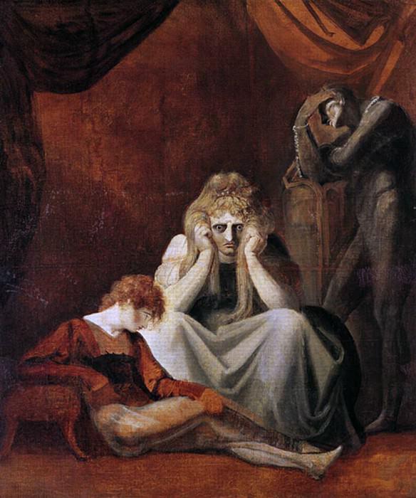 Here I and Sorrow Sit, Act II Scene I of King John by William Shakespeare (1564-1616). Henry (Fussli Fuseli