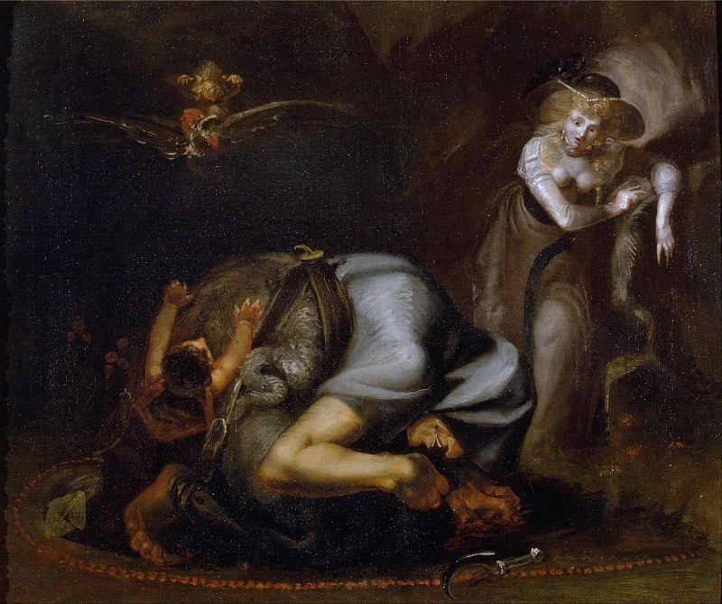 Scene of Witches, from The Masque of Queens by Ben Jonson (1572-1637). Henry (Fussli Fuseli