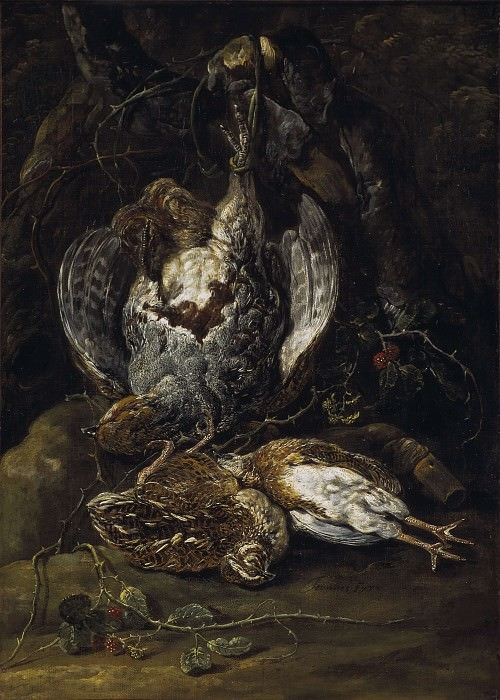 Still Life with Quails and a Partridge. Jan Fyt
