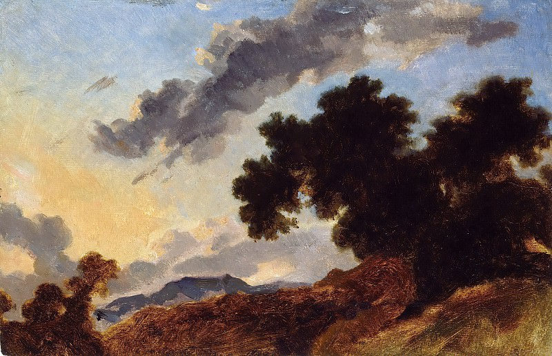 Mountain Landscape at Sunset. Jean Honore Fragonard
