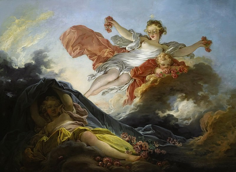 The Goddess Aurora triumphing over Night. Jean Honore Fragonard