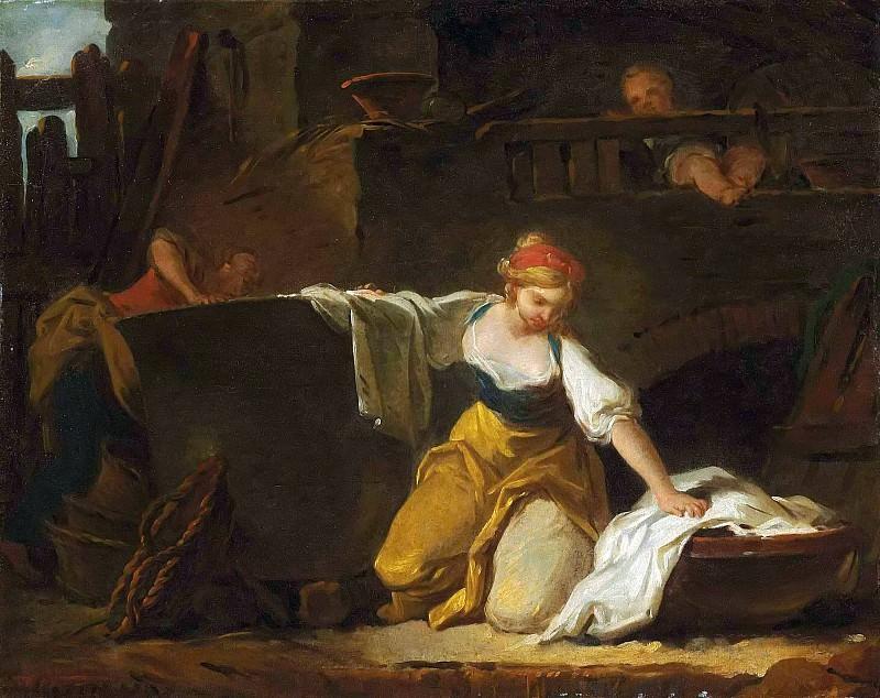 Young Washerwoman. Jean Honore Fragonard