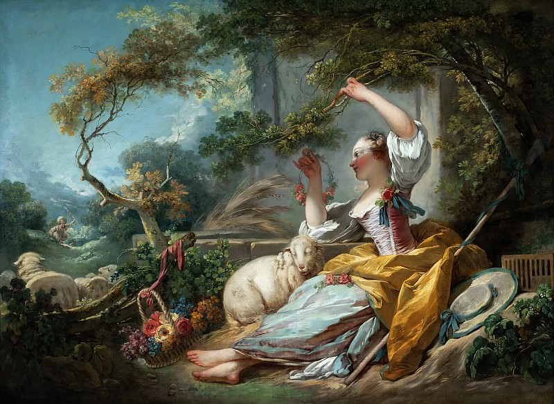The Shepherdess. Jean Honore Fragonard
