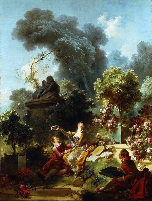 The Progress of Love: The Lover Crowned. Jean Honore Fragonard