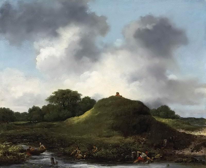 Hilly landscape. Jean Honore Fragonard