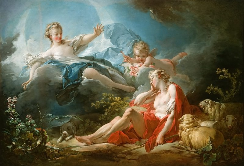 Fragonard, Jean Honore - Diana and Endymion. National Gallery of Art (Washington)