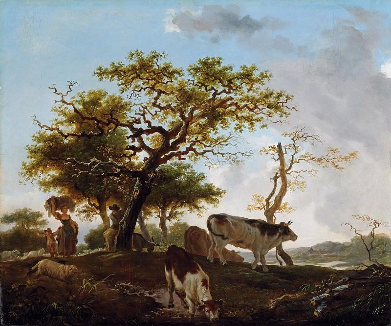 Landscape with Shepherd. Jean Honore Fragonard