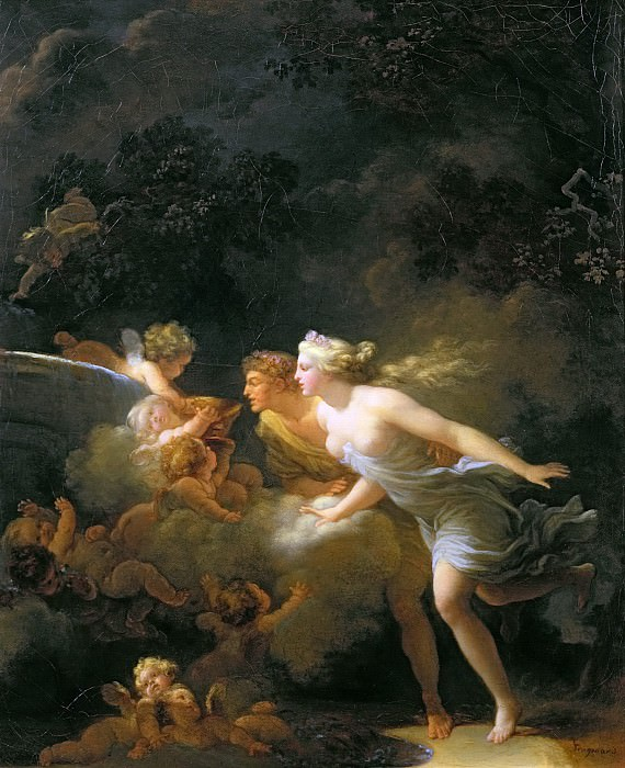 The Fountain of Love. Jean Honore Fragonard