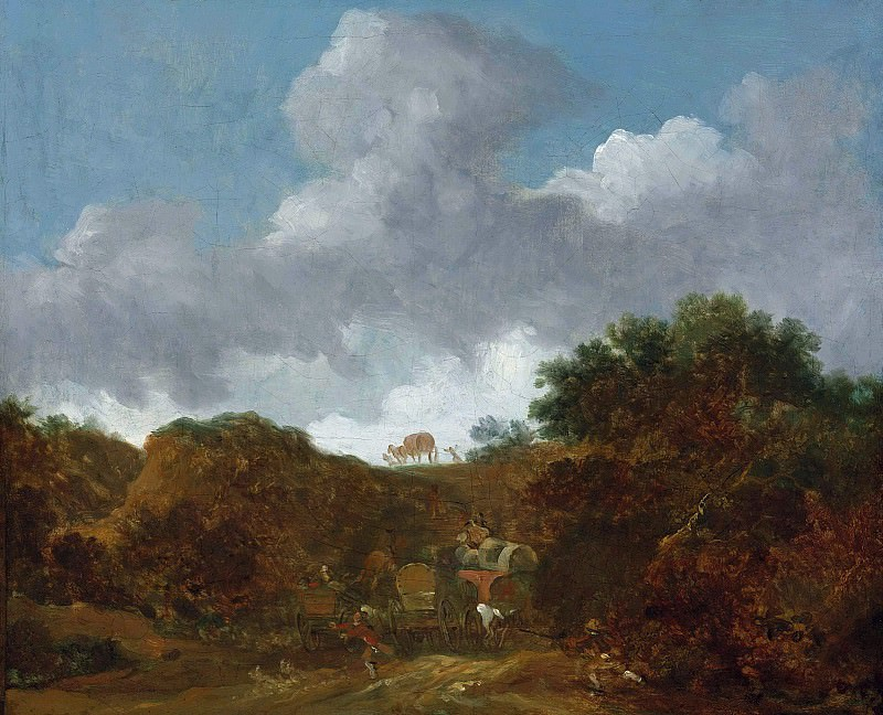 Landscape with Brigands attacking Travellers. Jean Honore Fragonard