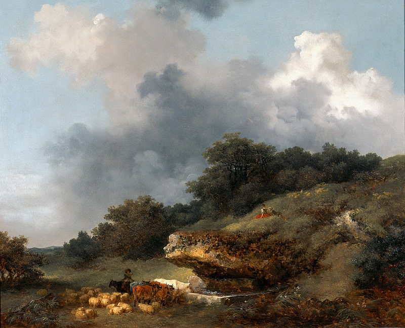 The Watering Place. Jean Honore Fragonard