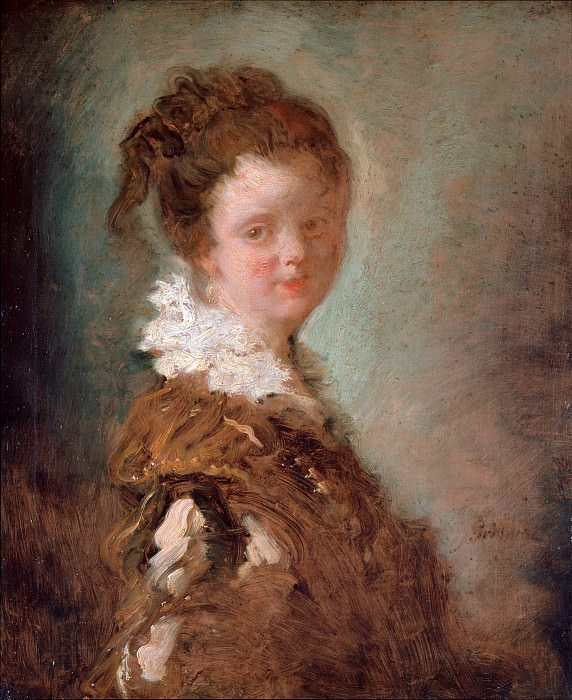 Portrait of a young woman. Jean Honore Fragonard