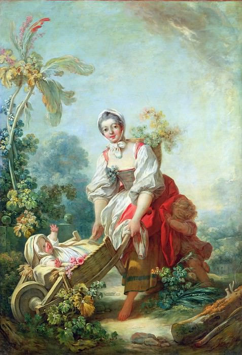 The Joys of Motherhood. Jean Honore Fragonard
