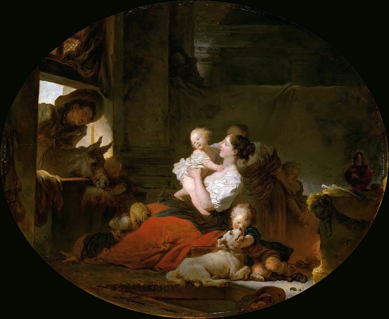 Fragonard, Jean Honore - The Happy Family. National Gallery of Art (Washington)