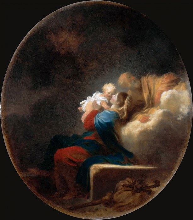 Rest on the Flight. Jean Honore Fragonard