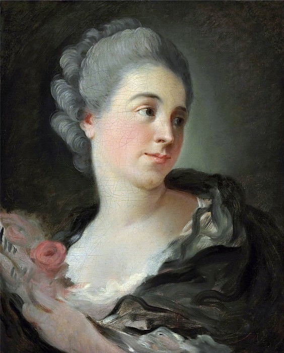 Portrait of a young woman, presumably Marie-Therese Colombe. Jean Honore Fragonard