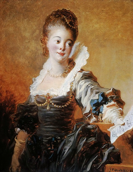 Portrait of a Singer Holding a Sheet of Music. Jean Honore Fragonard