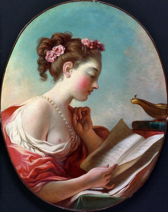Fragonard, Jean Honore - Young Woman Reading. Metropolitan Museum: part 1