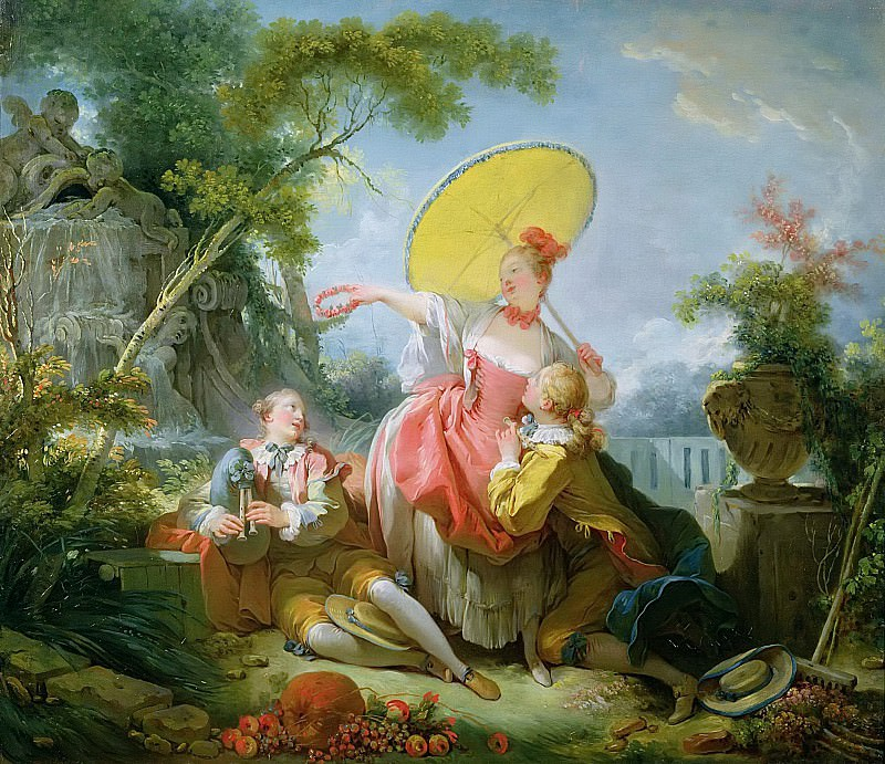 The Musical Contest. Jean Honore Fragonard