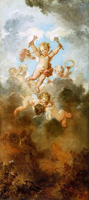 The Progress of Love: Love Triumphant. Jean Honore Fragonard