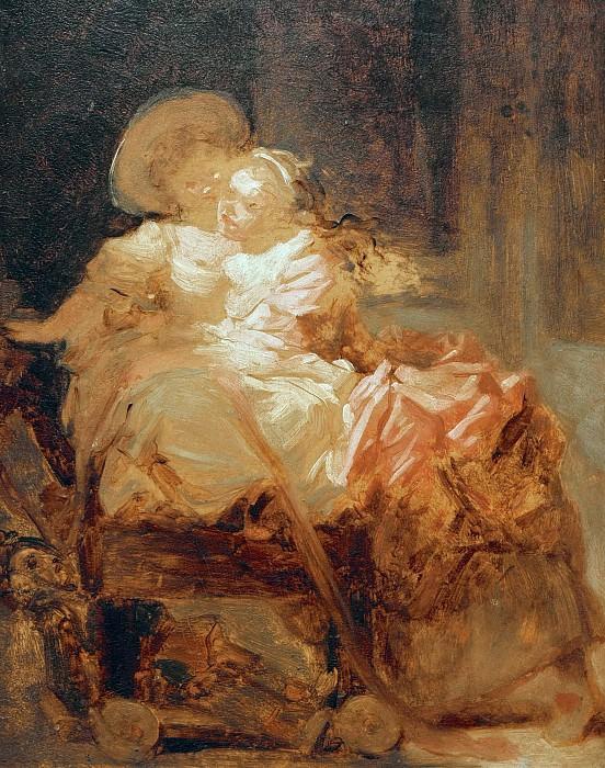 Two Sisters (sketch). Jean Honore Fragonard