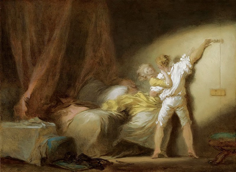 THE BOLT (study). Jean Honore Fragonard