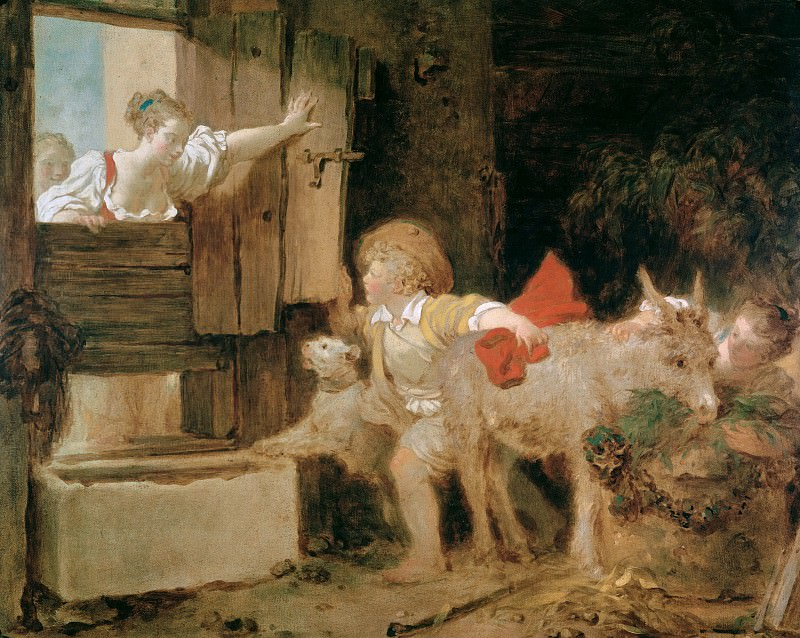 The Donkey Stall. Jean Honore Fragonard