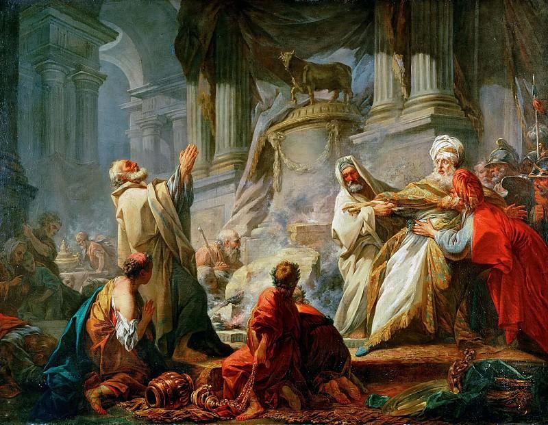 Jeroboam Offering Sacrifice for the Idol. Jean Honore Fragonard