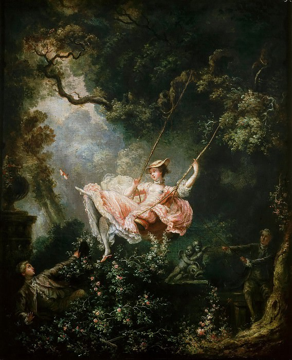 The Swing. Jean Honore Fragonard (Studio of)