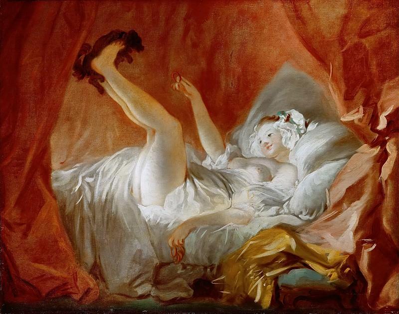 Бублик (Девушка, играющая с собачкой). Жан Оноре Фрагонар