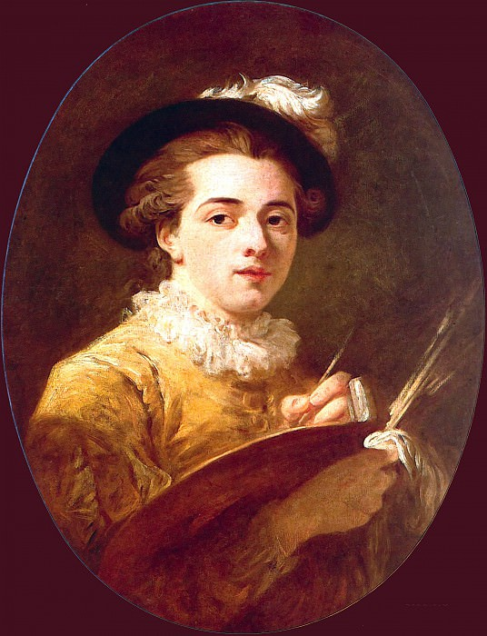 Portrait of a young painter. Jean Honore Fragonard