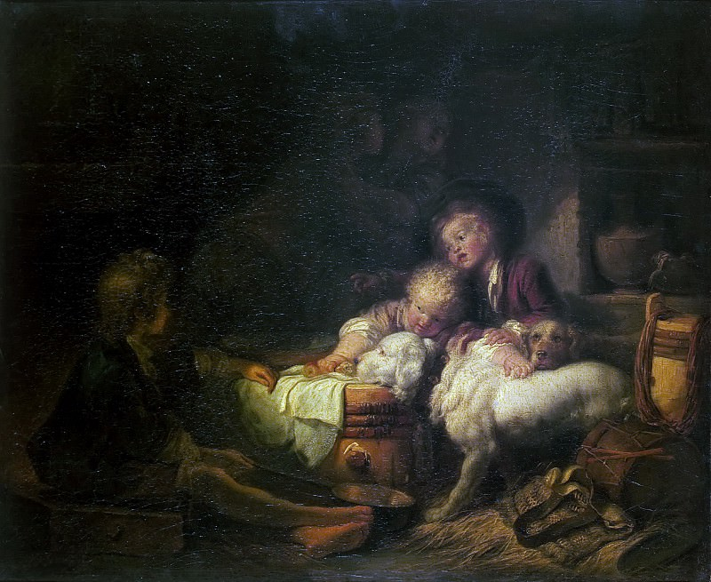 Children farmer. Jean Honore Fragonard