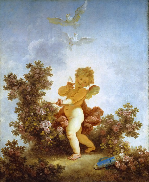 The Progress of Love: Love the Sentinel. Jean Honore Fragonard