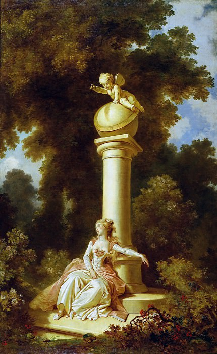 The Progress of Love: Reverie. Jean Honore Fragonard
