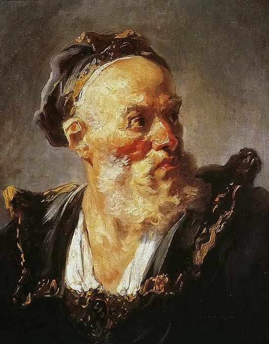 Bust of an Old Man Wearing a Cap. Jean Honore Fragonard