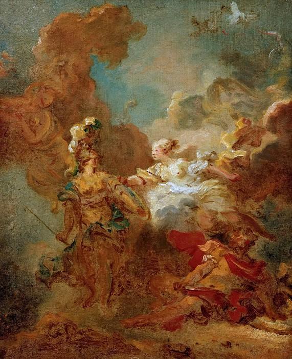 Fight between Mars and Minerva (study). Jean Honore Fragonard
