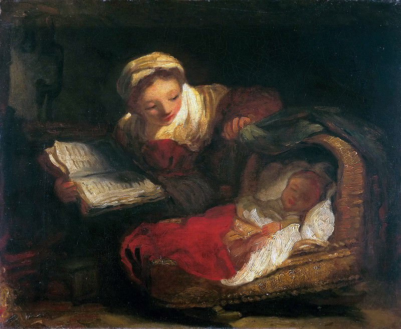 A caring mother. Jean Honore Fragonard