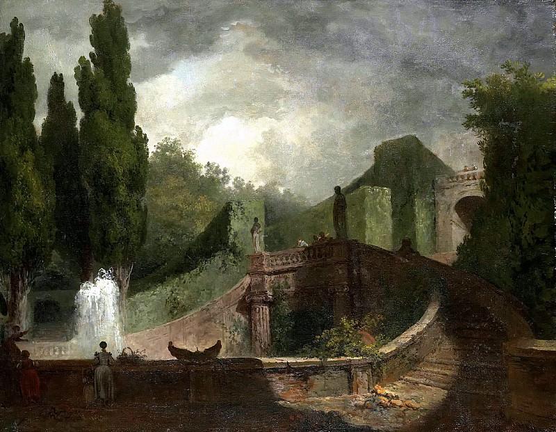 Villa d´Este in Tivoli. Jean Honore Fragonard