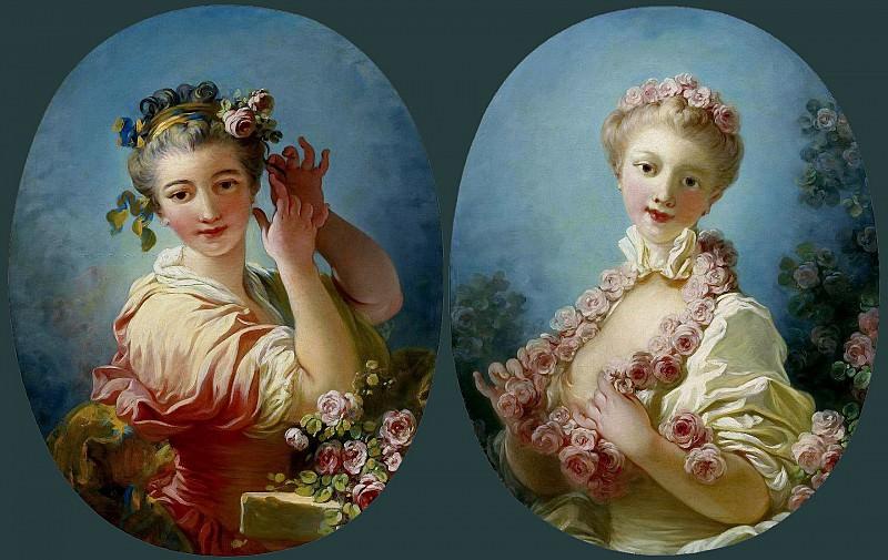 ROSES. Jean Honore Fragonard