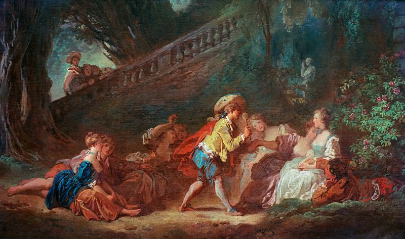 Game in the Park. Jean Honore Fragonard