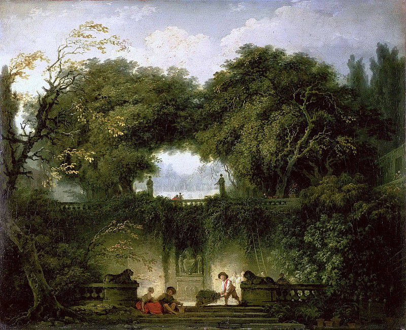 The Small Park. Jean Honore Fragonard