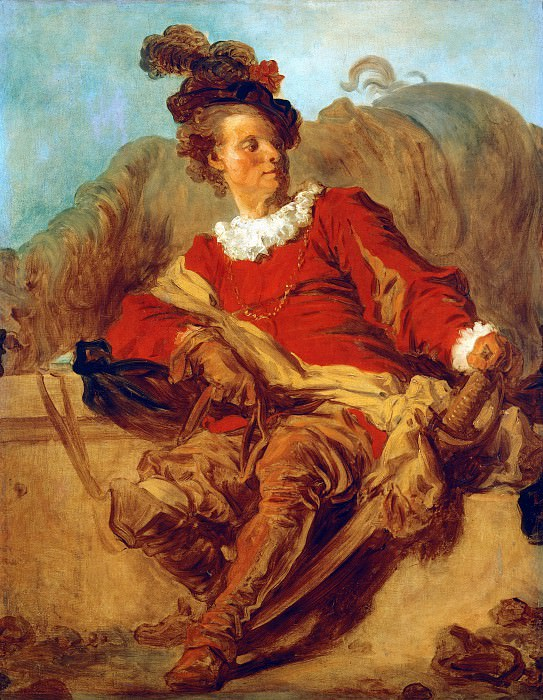 The abbot of Saint-Non in Spanish clothing. Jean Honore Fragonard