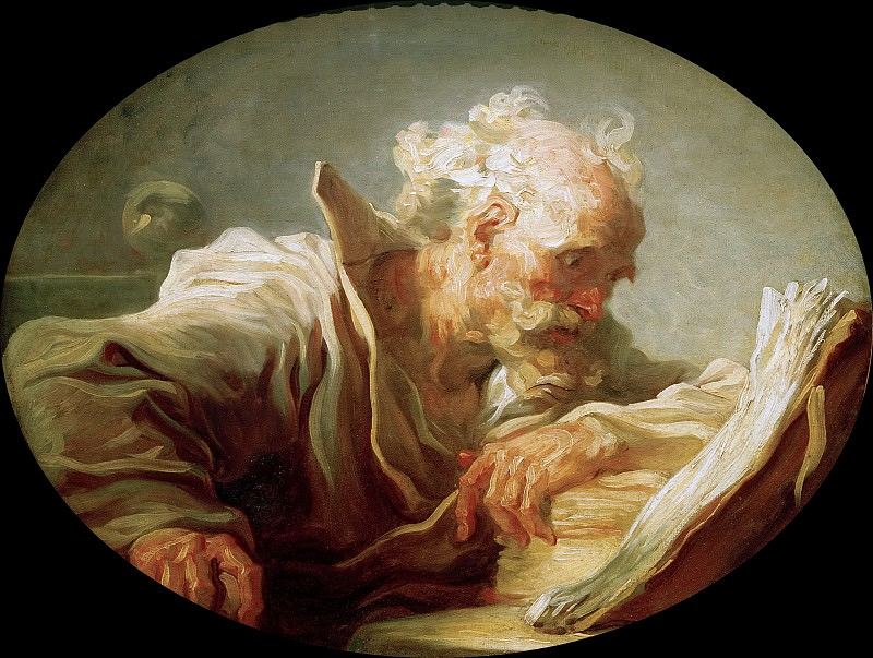 The Philosopher. Jean Honore Fragonard