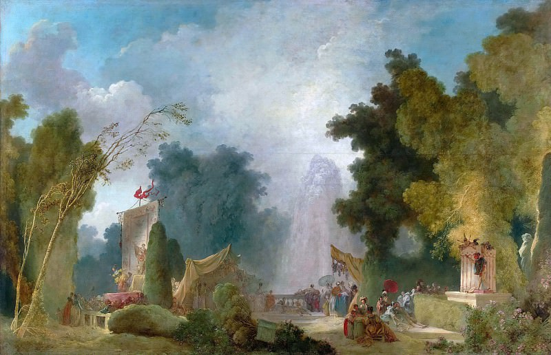 Festival at Saint-Cloud. Jean Honore Fragonard