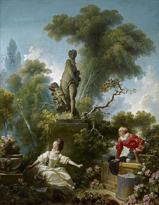 The Progress of Love: The Meeting. Jean Honore Fragonard