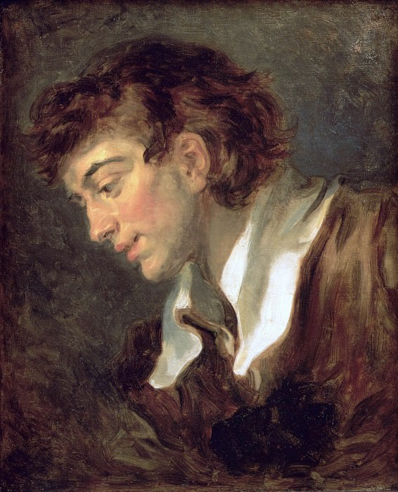 Head of a young Man. Jean Honore Fragonard