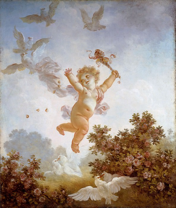The Progress of Love: Love the Jester. Jean Honore Fragonard