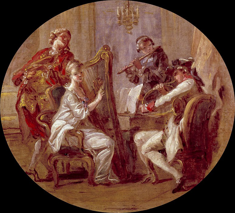 The Concert. Jean Honore Fragonard