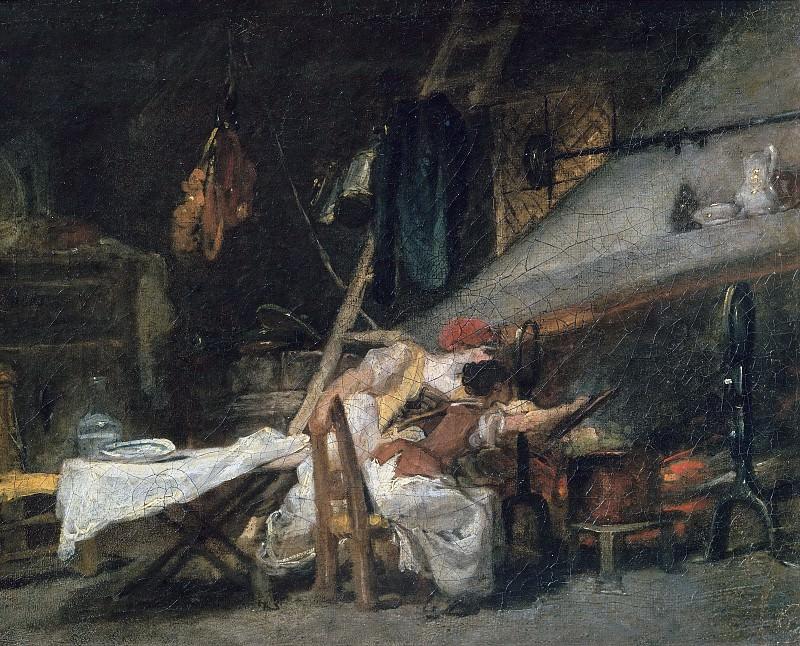 At the Fireside. Jean Honore Fragonard