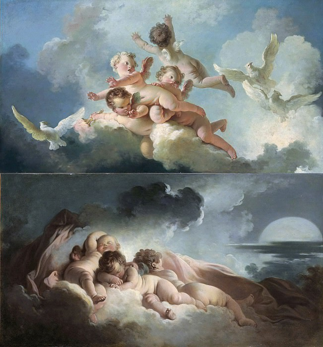 Day and Night. Jean Honore Fragonard